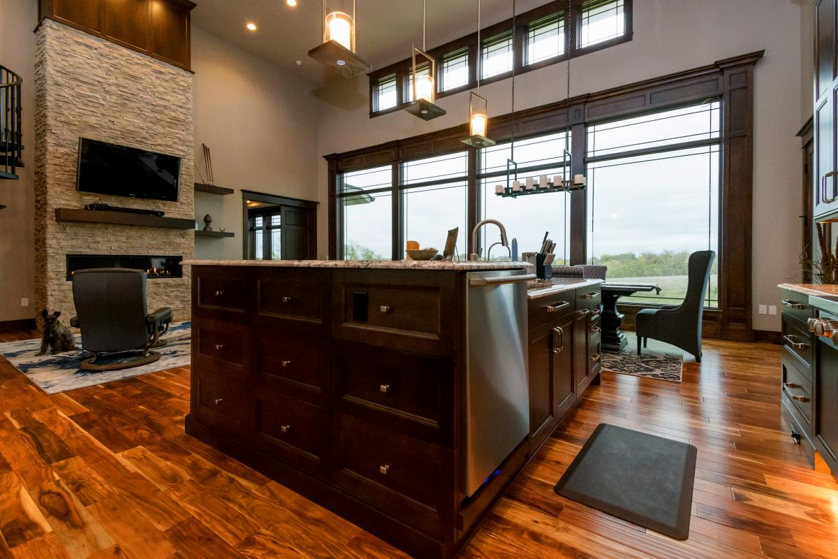 Norwalk Iowa new home and custom kitchen design.
