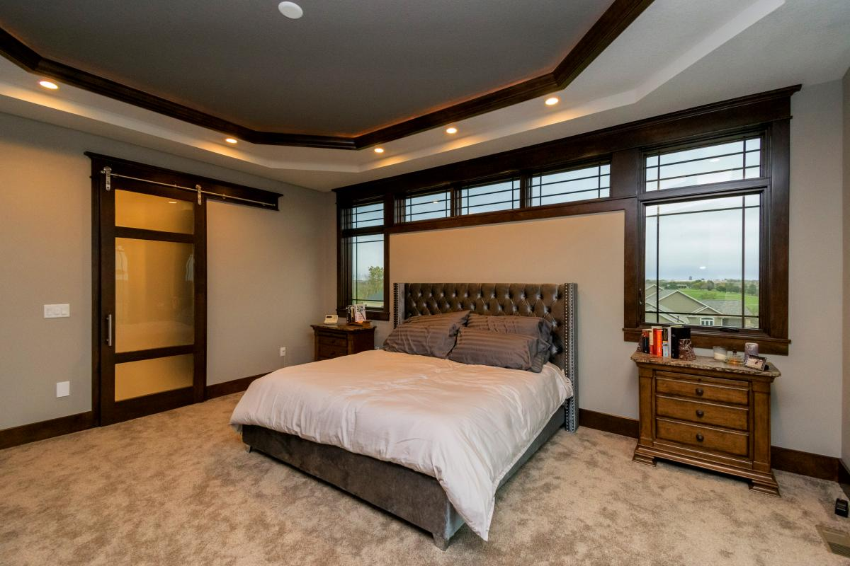 Norwalk Iowa Prairie Style Home, master bedroom