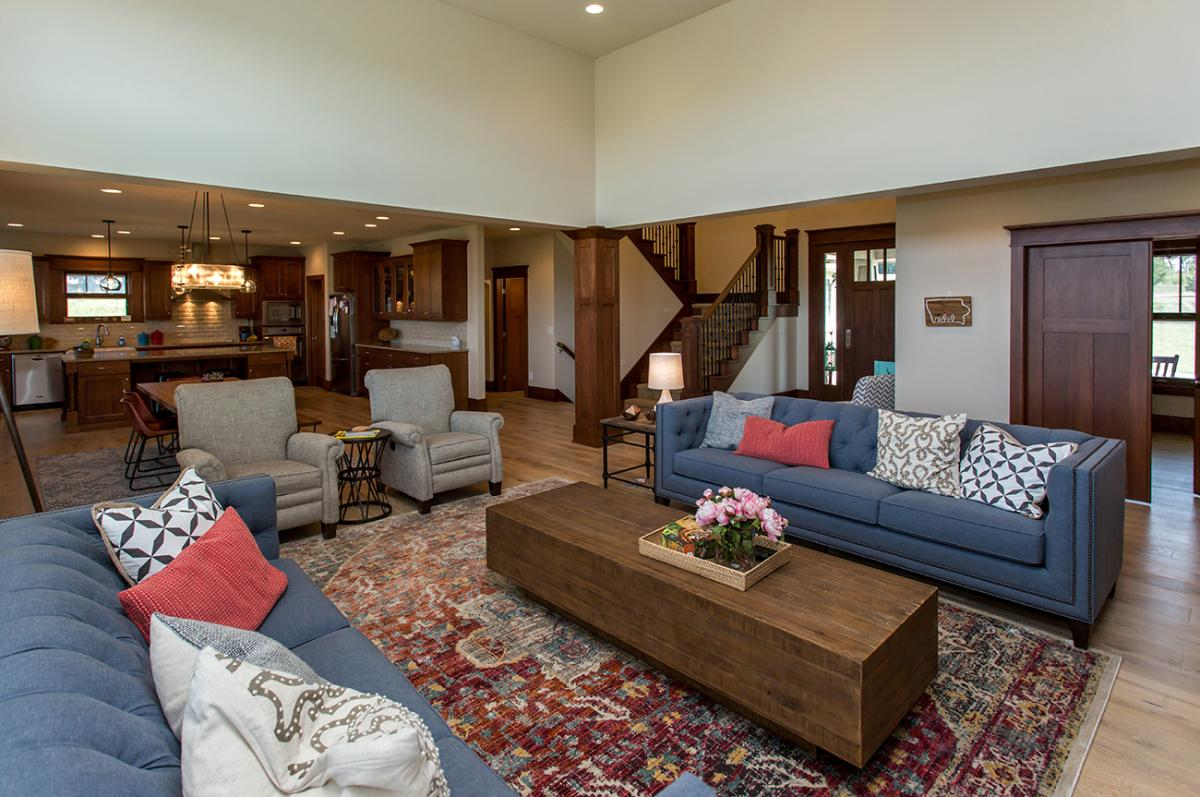Open Living Area in Adel Family Home